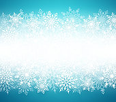 Winter snow vector background with white snow flakes elements