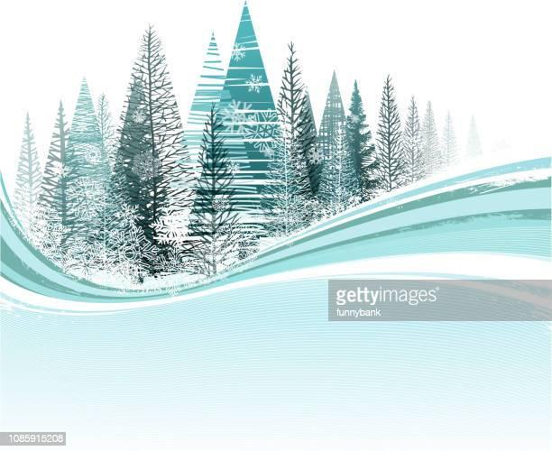illustrations, cliparts, dessins animés et icônes de hiver enneigés - ski alpin