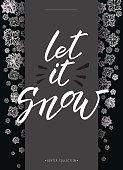 Winter snowflakes design