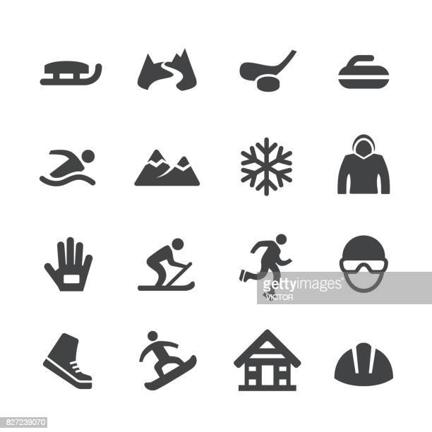 winter sport icons - acme series - motorcycle helmet stock illustrations, clip art, cartoons, & icons