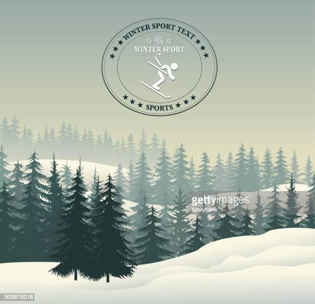 winter sport silhouette