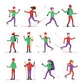 Winter Sports and Activities. Hockey, skiing, snowboarding, ice skating.