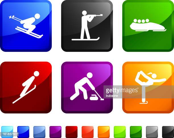 Winter Sports Competition royalty free vector icon set