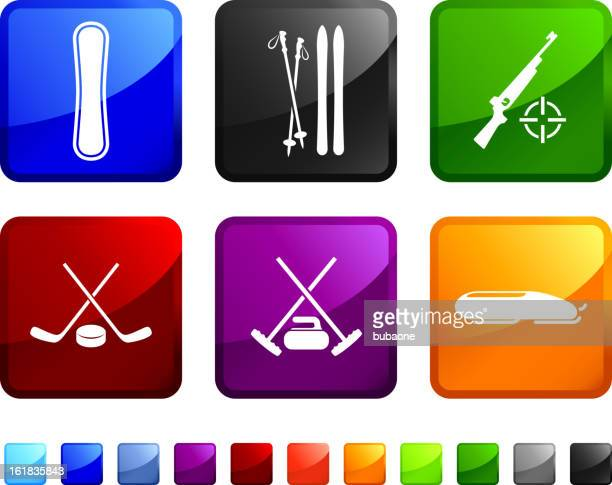 Winter Sports royalty free vector icon set
