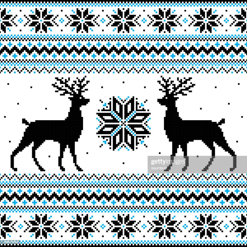 Winter sweater pattern for background