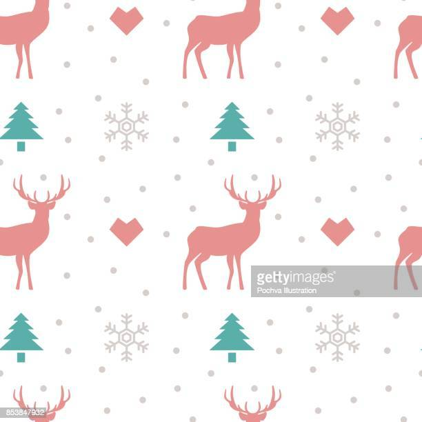 Winter themed seamless pattern