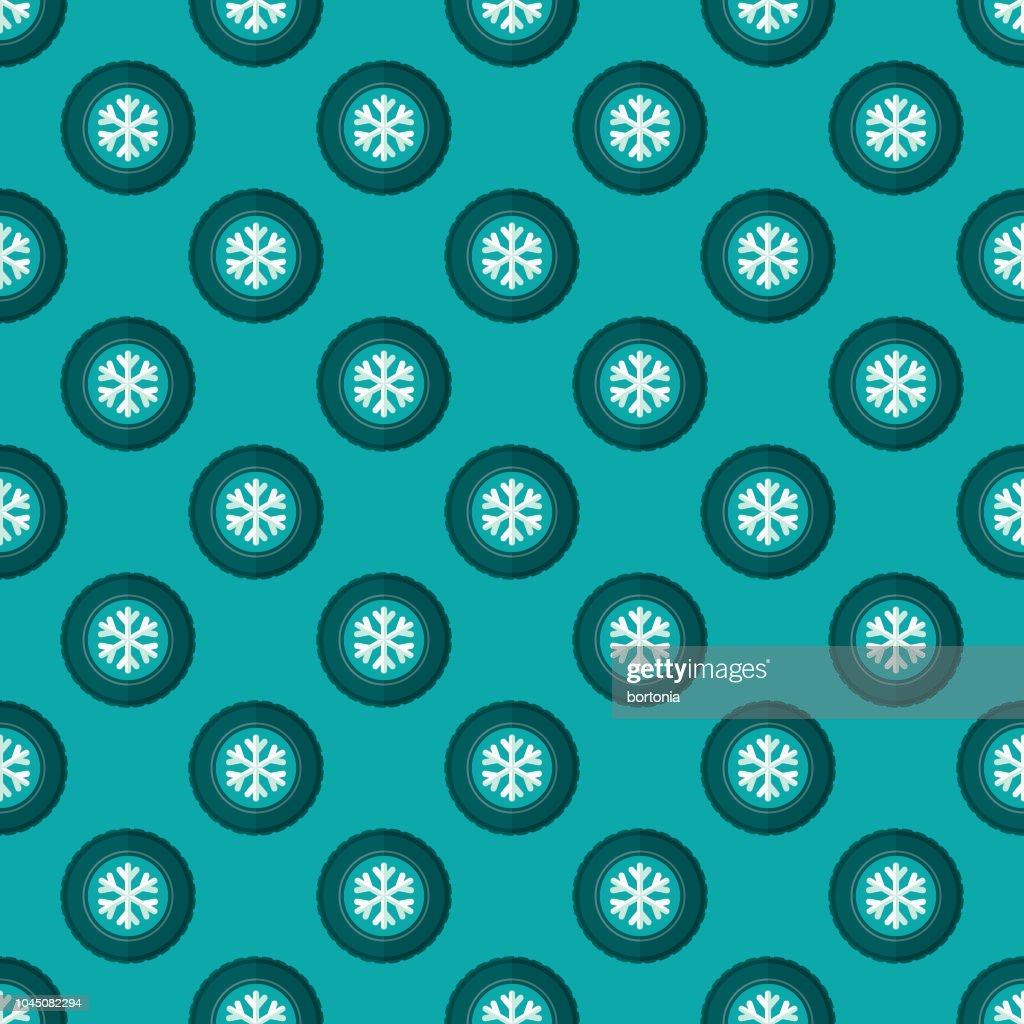 Winter Tires Seamless Pattern