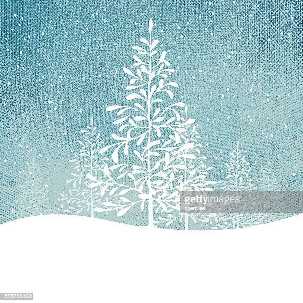 Sfondo di albero d'inverno