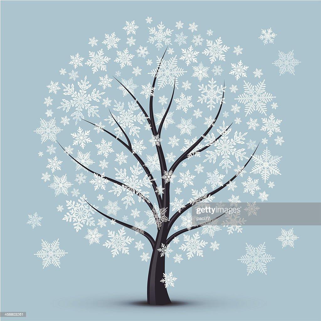 winter tree stock illustration getty images. Black Bedroom Furniture Sets. Home Design Ideas