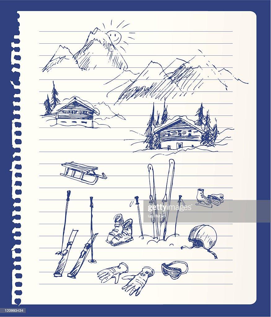 Winter vacation sketch