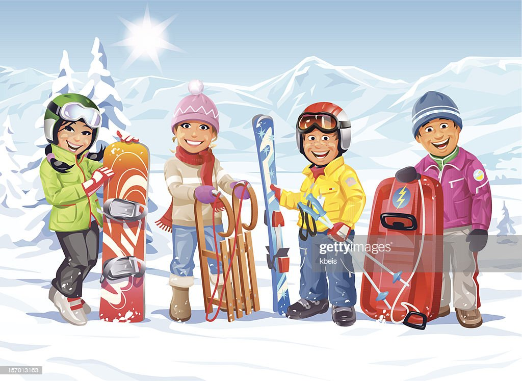 Winter Vacation : stock illustration