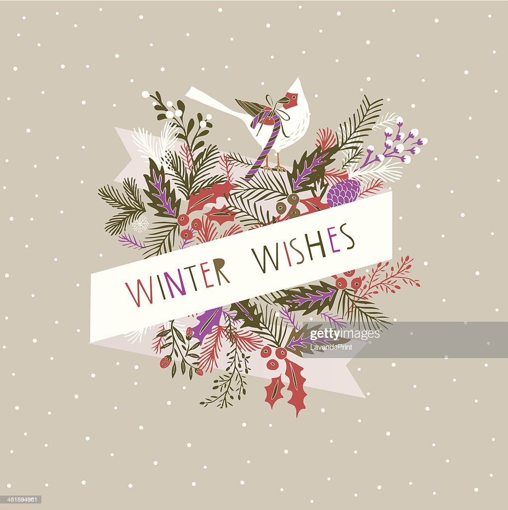 Winter Wishes Card Design