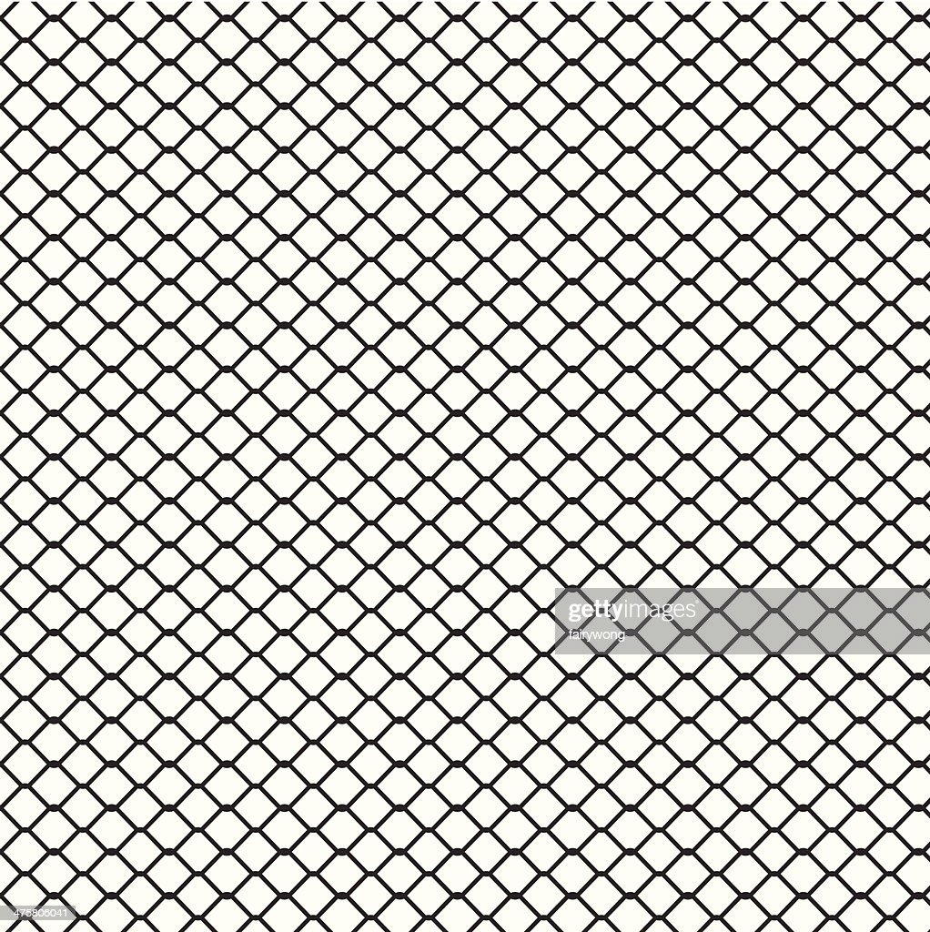 Wire Fence Background Vector Art | Getty Images