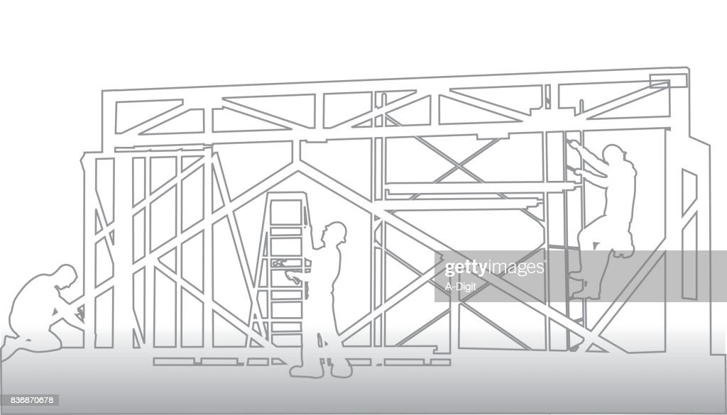 Wire Frame Scaffolding Vector Art | Getty Images