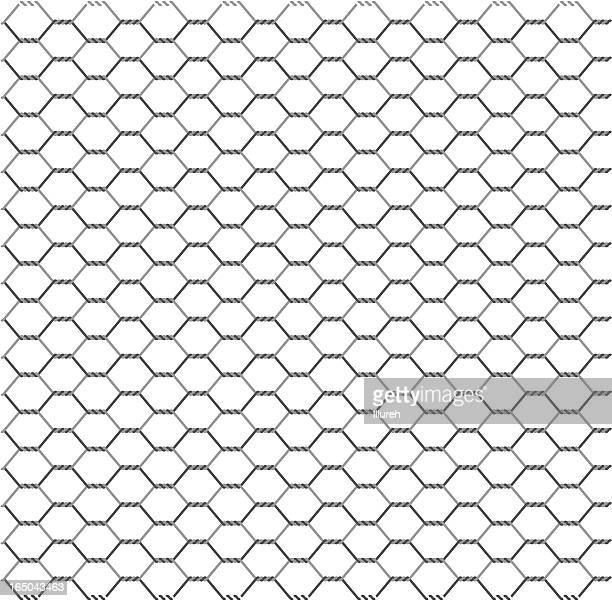 wire netting - wire mesh fence stock illustrations