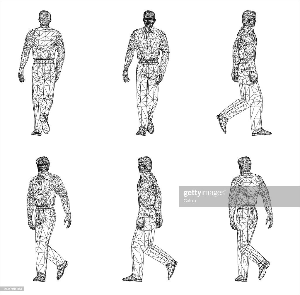 Wireframe design of Man
