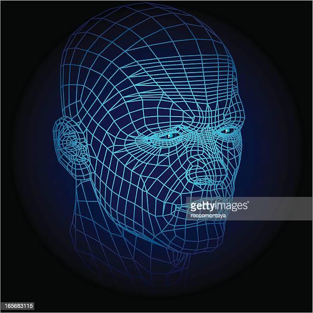 illustrations, cliparts, dessins animés et icônes de modélisation 3d visage - chirurgie esthetique