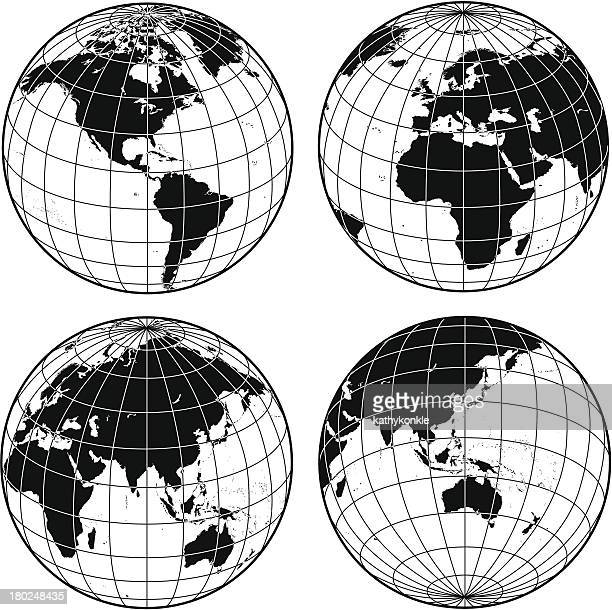 Gitternetzlinien globes