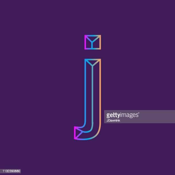 ilustrações de stock, clip art, desenhos animados e ícones de wireframe lowercase letter outline bevelled 3d alphabet design - letraj