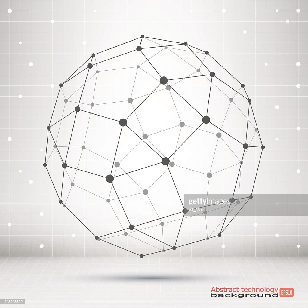 Wireframe mesh polygonal element.