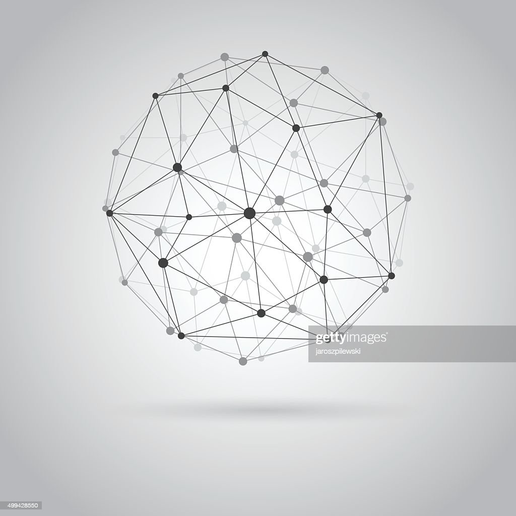 Wireframe sphere.