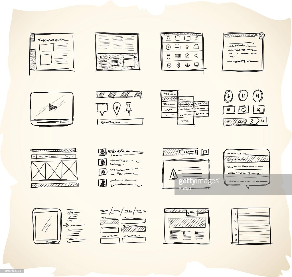 Wireframing Icons 2