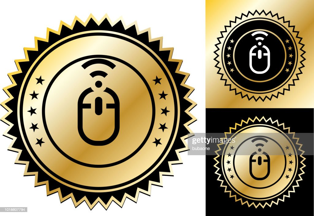 Wireless Computer Mouse Icon Vector Art | Getty Images