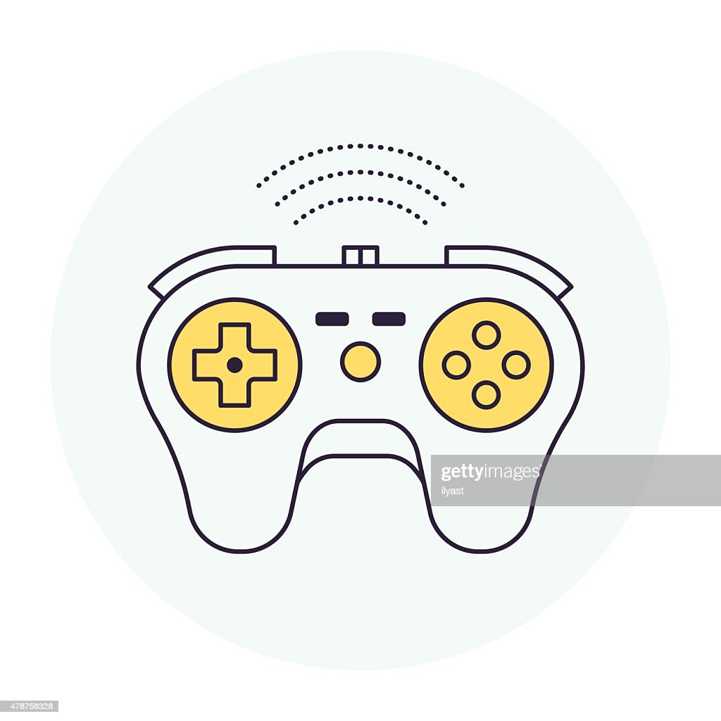 Wireless Game Controller Symbol Vector Art Getty Images