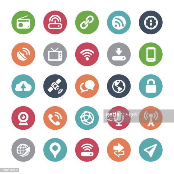 wireless icons - bijou series - podcasting stock illustrations, clip art, cartoons, & icons