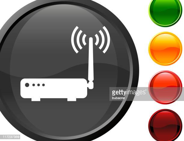 Wireless internet router royalty free vector art
