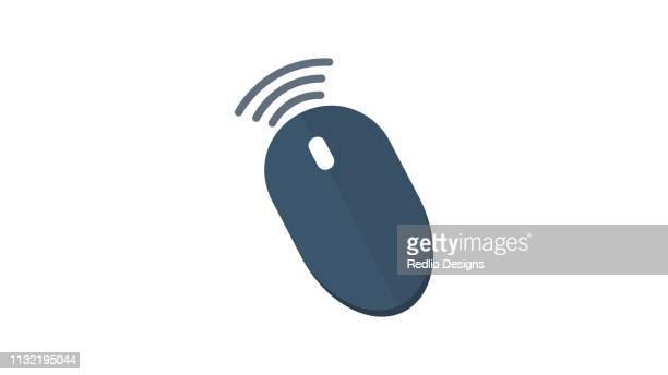 Wireless Mouse icon, wifi mouse icon
