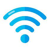 Wireless Network Symbol Isolated On White Background. Flat vector Illustration.
