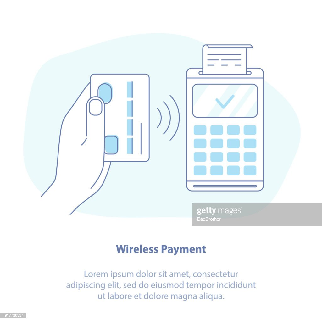 Wireless Payment, Contactless NFC Payment Purchase
