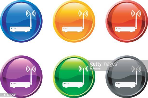 wireless router royalty free vector art - television aerial stock illustrations, clip art, cartoons, & icons