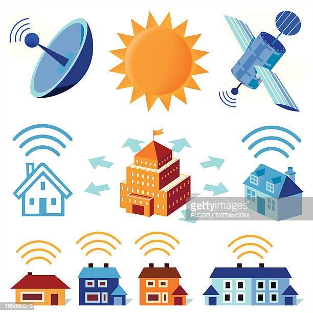 wireless signals - emitting stock illustrations, clip art, cartoons, & icons