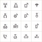 Wireless Technology Icons — Inky Series