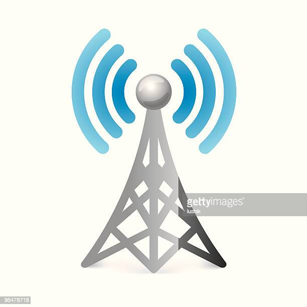 Wireless tower vector icon