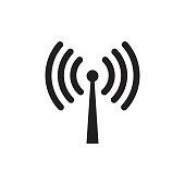 Wireless wifi or sign for remote internet access icon vector on white background, Flat style for graphic and web design