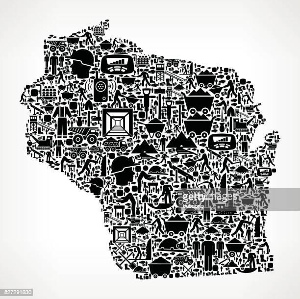 Wisconsin Mining Industry Vector Graphic