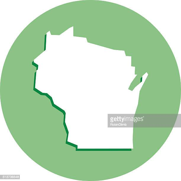 Wisconsin Round Map Icon