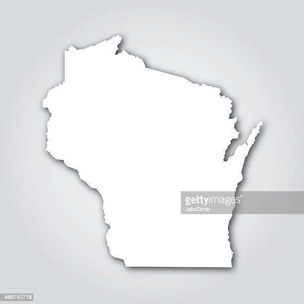 Wisconsin Silhouette White