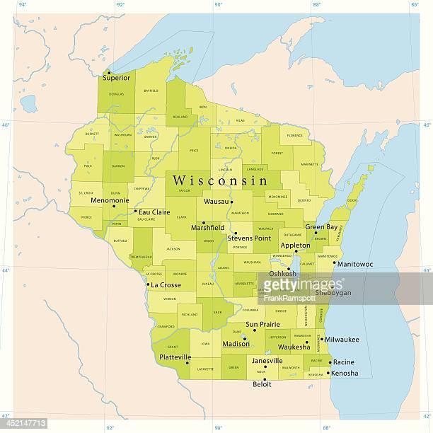 Wisconsin Vector Map