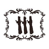 wise man holy family christmas design