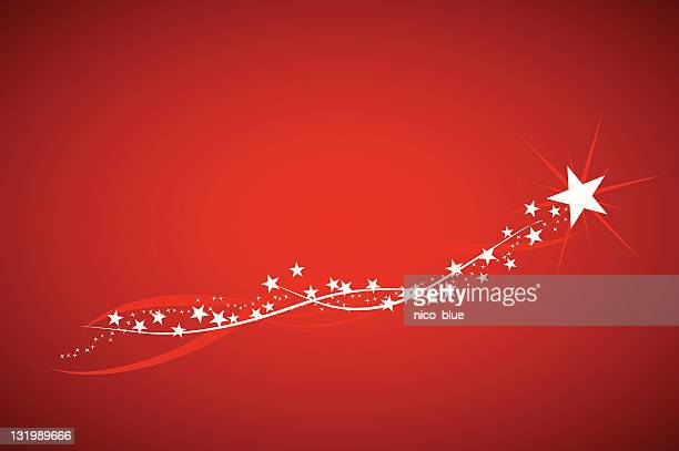 wishing upon a shooting star - light trail stock illustrations