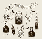 Witchcrafting set of bottles