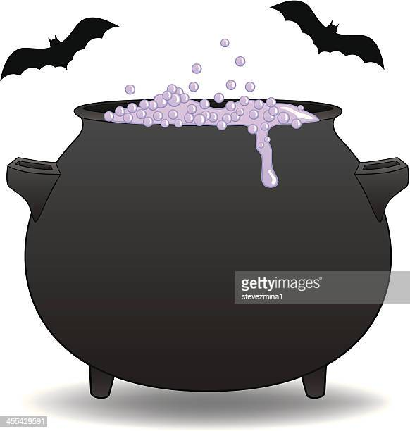 witch's cauldron - cauldron stock illustrations, clip art, cartoons, & icons