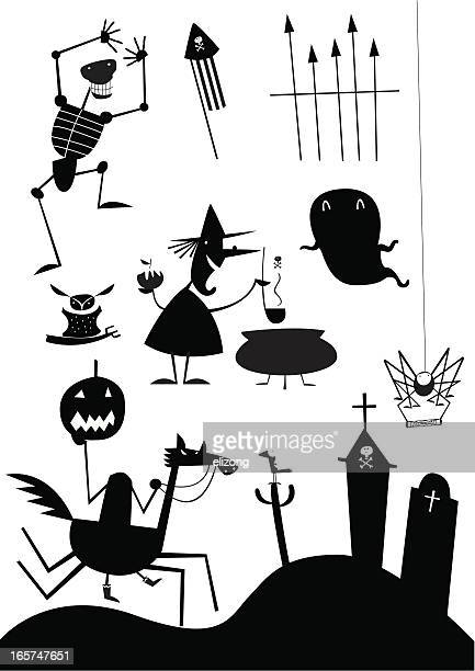 witchy icons - brewery stock illustrations, clip art, cartoons, & icons