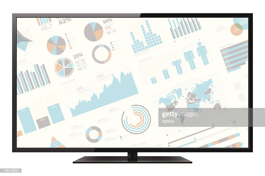 LCD TV with infographic screen