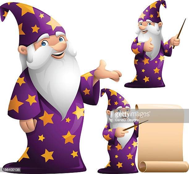 wizard: 3 in 1 - wizard stock illustrations, clip art, cartoons, & icons