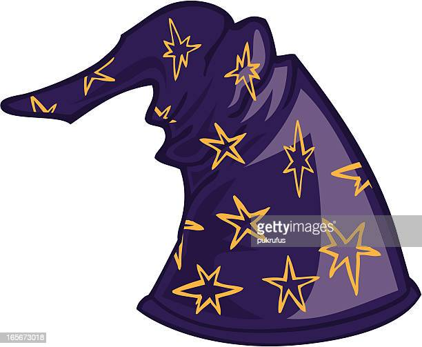 wizard hat - wizard stock illustrations, clip art, cartoons, & icons